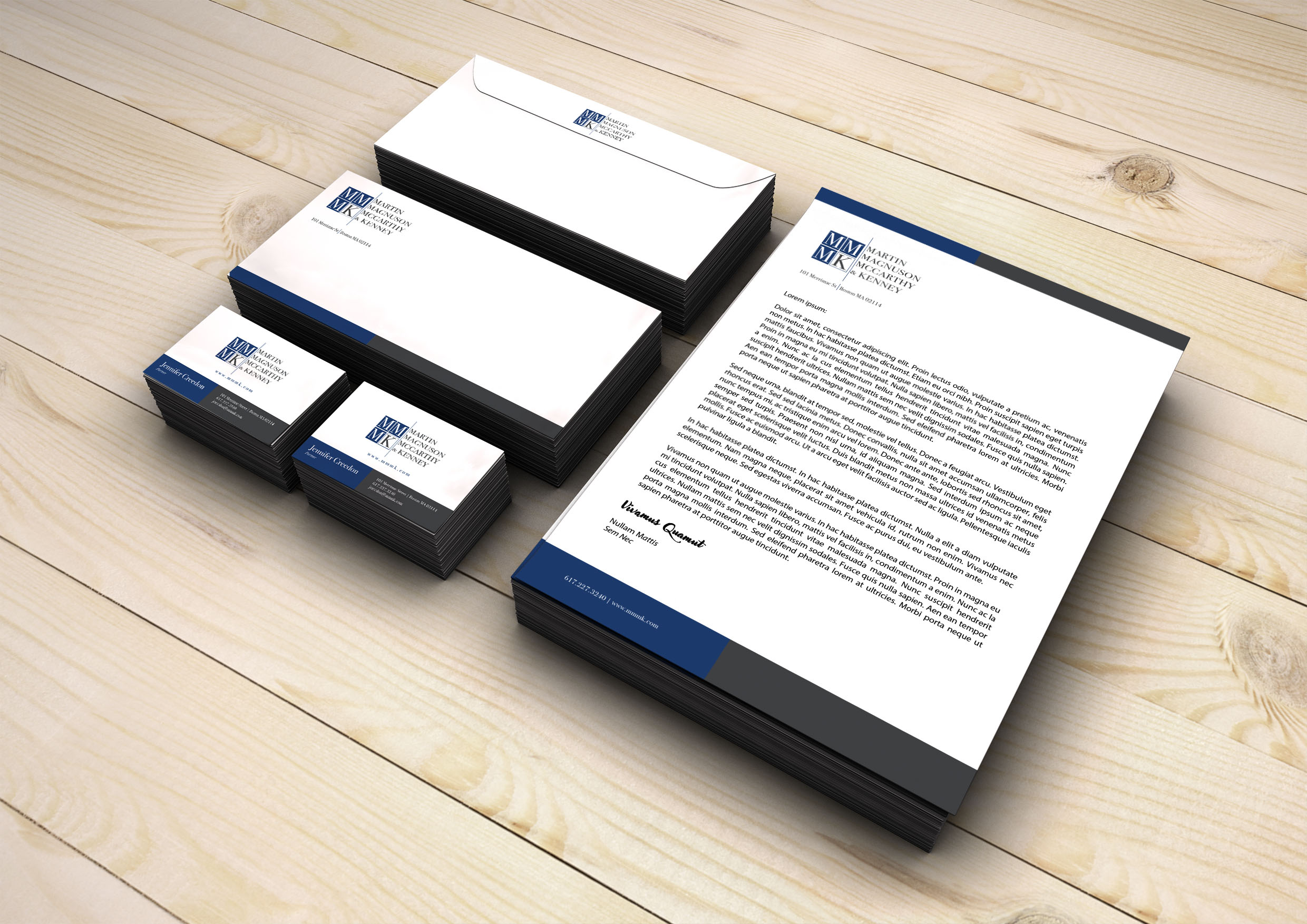 Client: The Law Office of Martin, Magnuson, McCarthy & Kenney   Corporate Rebrand