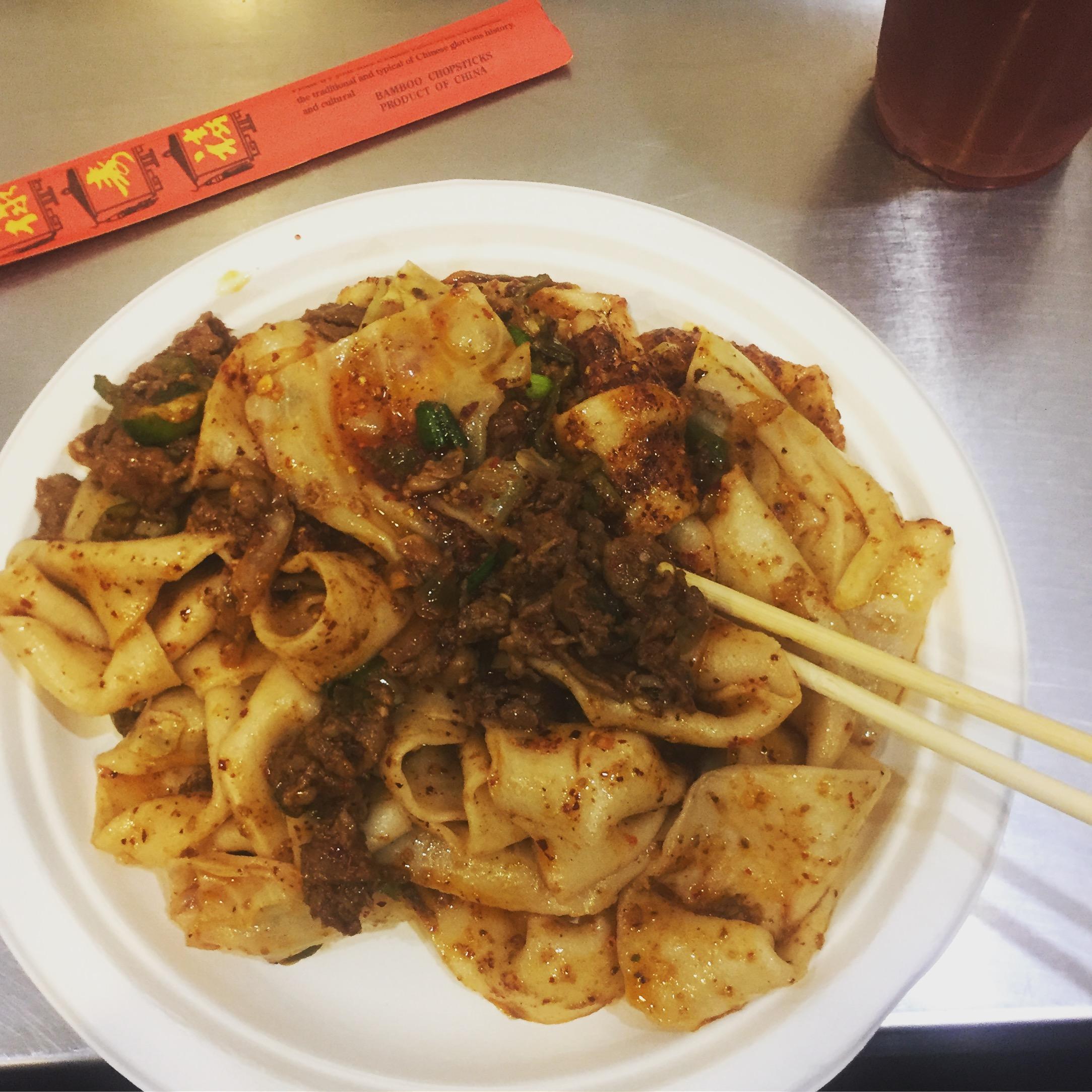 Xian Famous Foods cumin lamb noodles