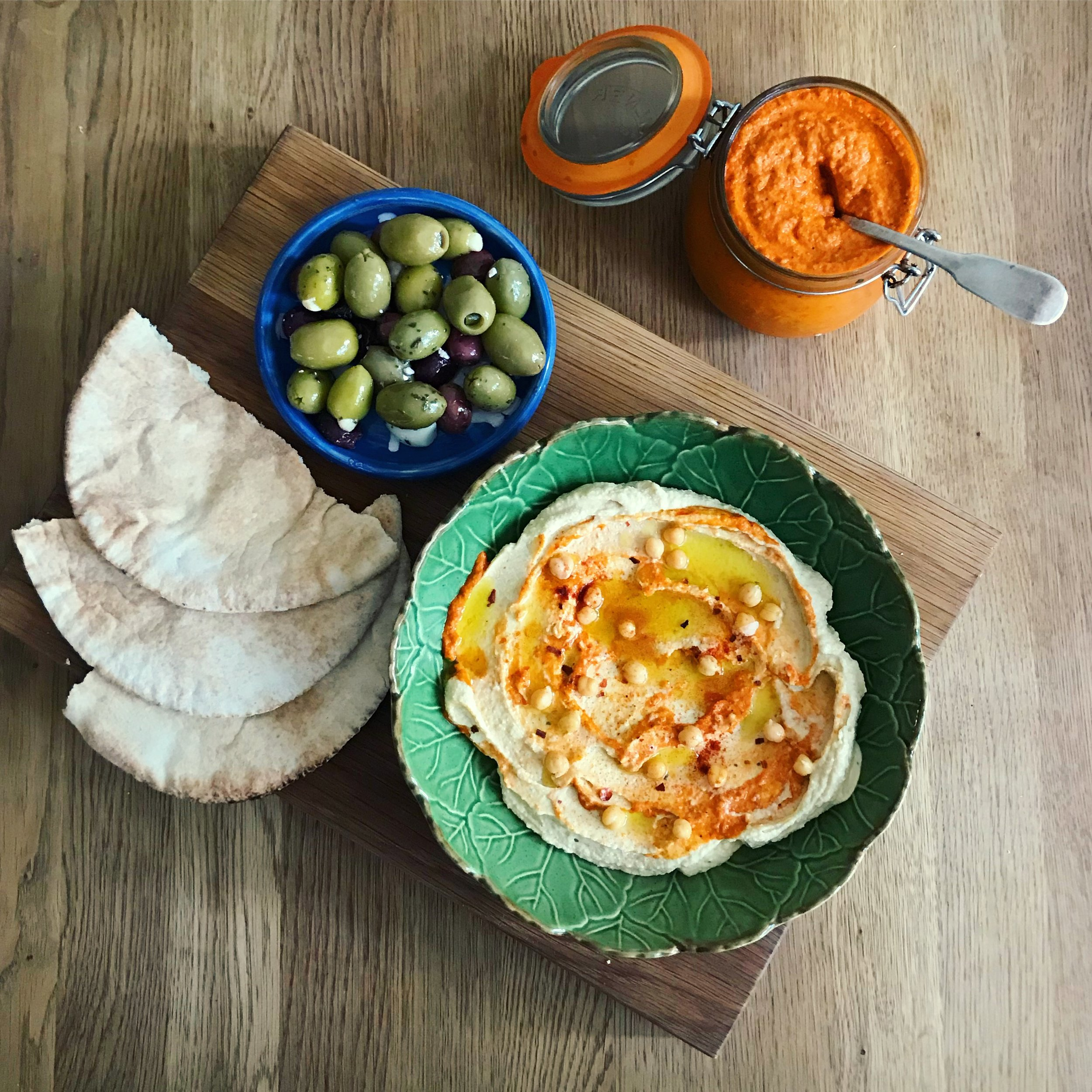 fermented harissa hummus