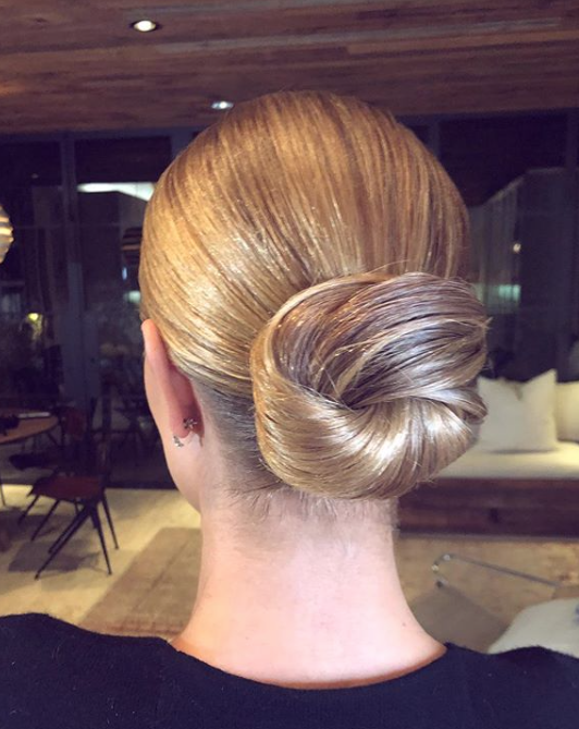 Rosie Huntington - Whitely  - by @cwoodhair on Instagram