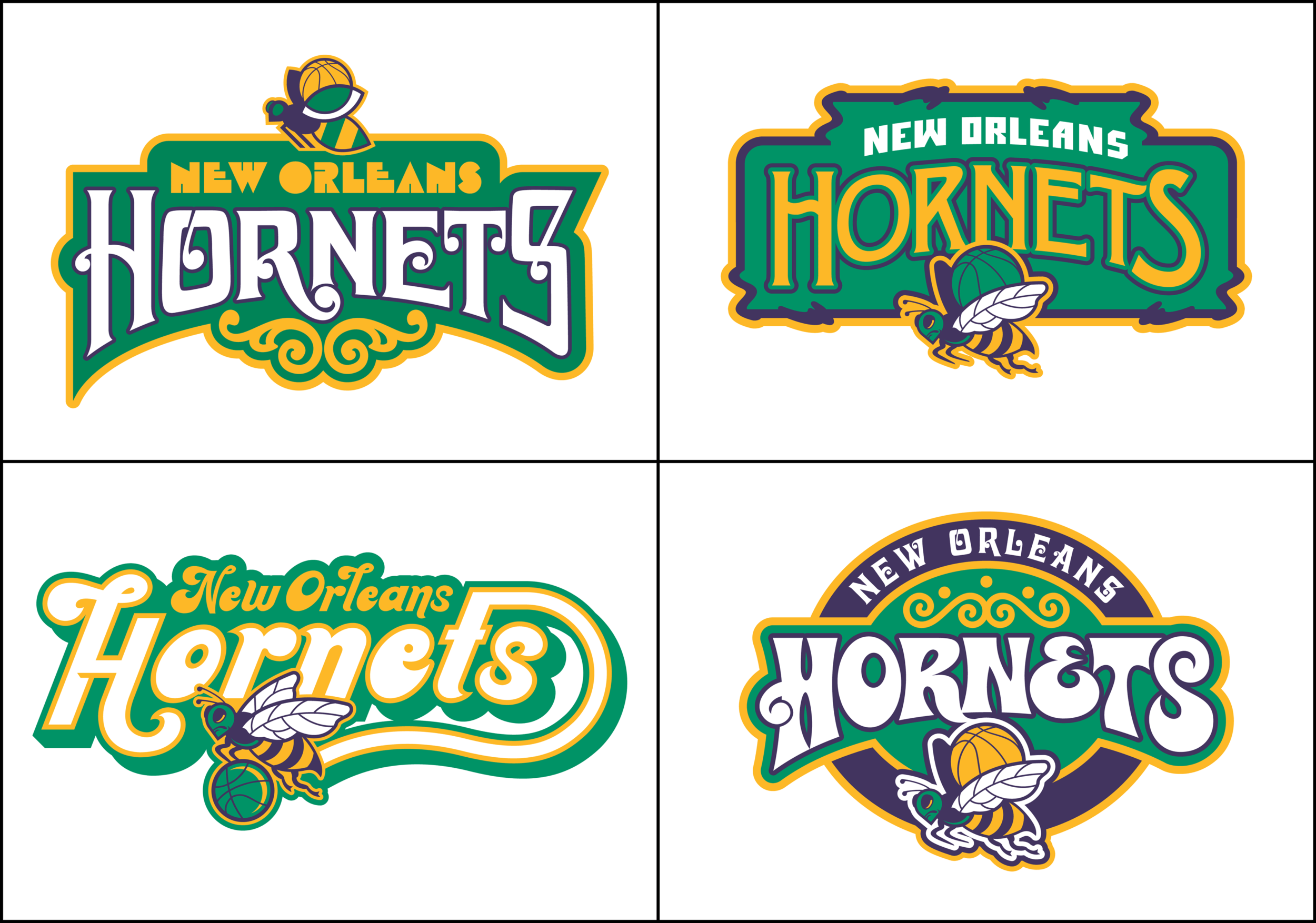 Hornets And Pelicans And Jazz Oh My Todd Radom Design