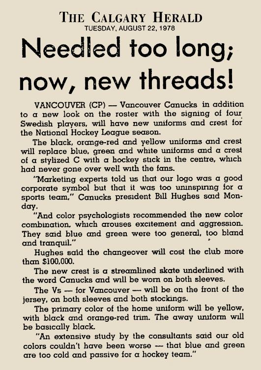 CANUCKS CHANGE_1978