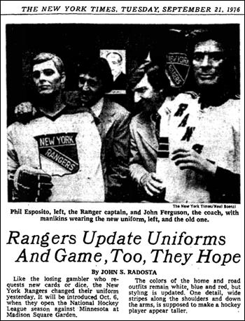 Sports Logo Case Study 9 The Lost Uniform Years Of The New York Rangers Todd Radom Design