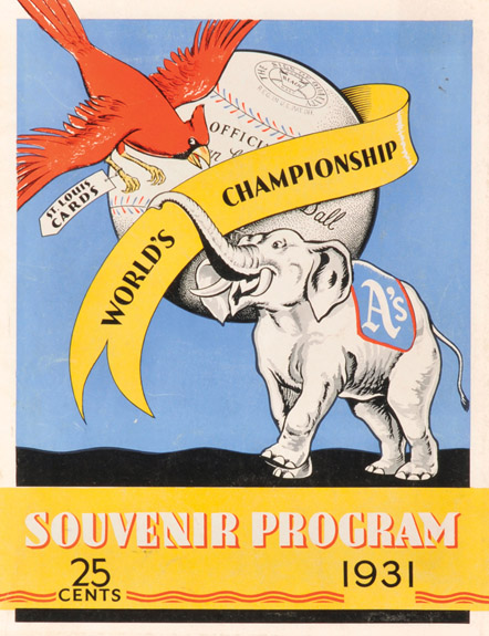 1931 WORLD SERIES COVER