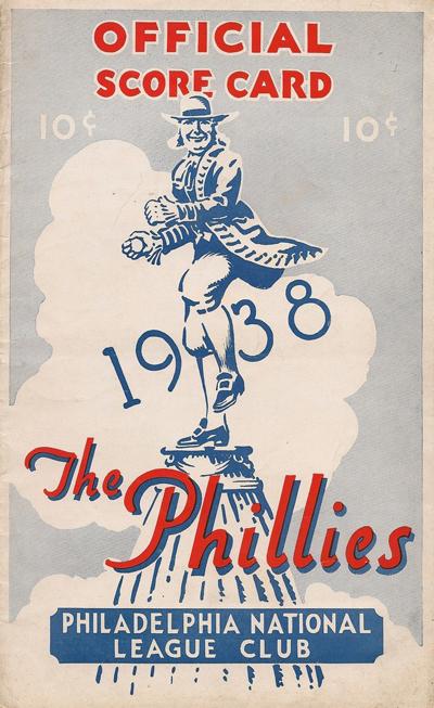 1938 PHILLIES PROGRAM