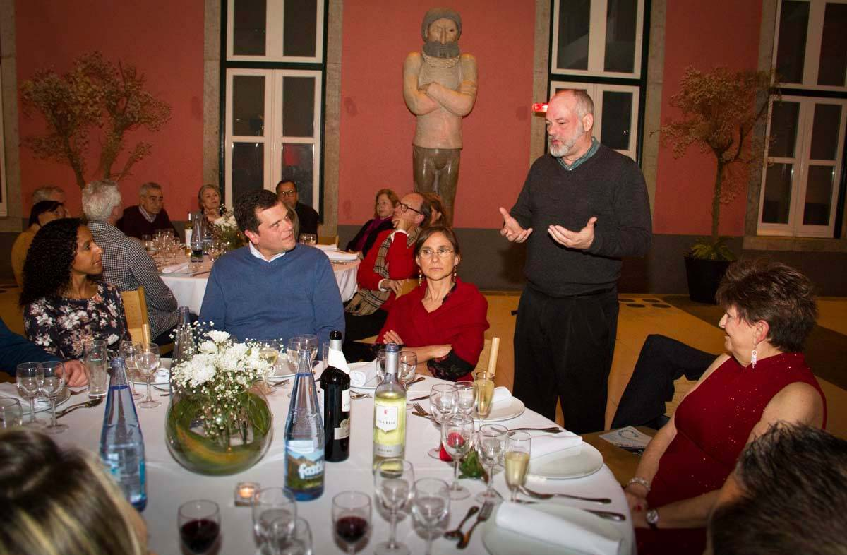 Thomas speaking at the 2018 Valentine's Dinner