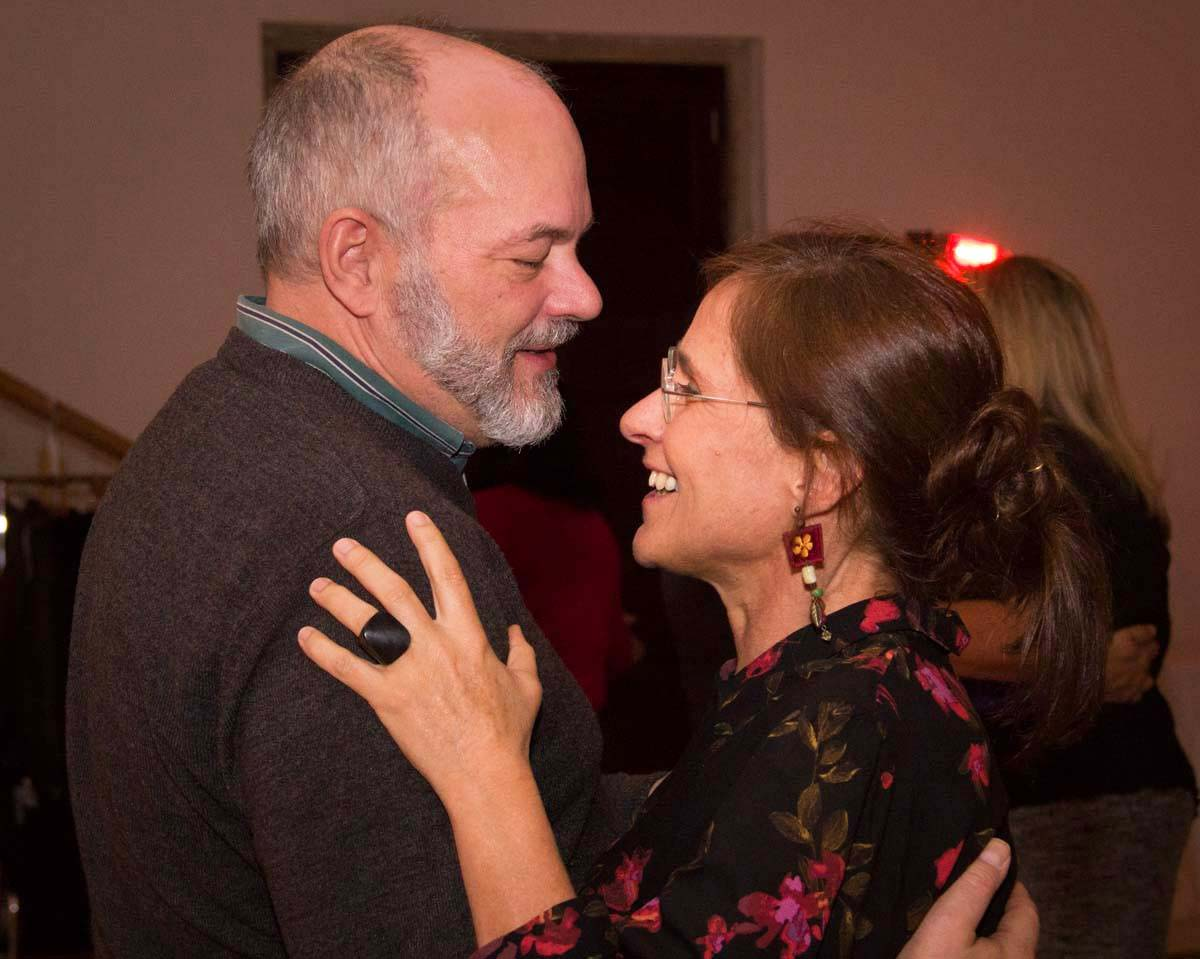 Thomas and Susana dancing at the 2018 Valentine's Dinner