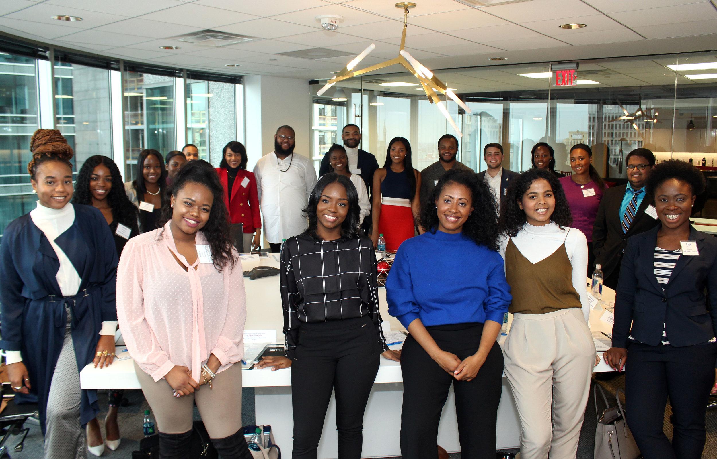 2017 Honoree Jamira Burley and Kyshon (M) alongside Future Executives.