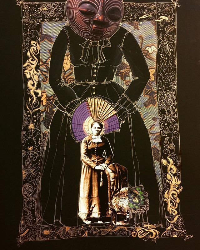 Harriett's Protection Dress (2017) Happy Juneteenth!!! #janettaylorpickett #worksonpaper #collageartist #womenartists #juneteenth #harriettubman