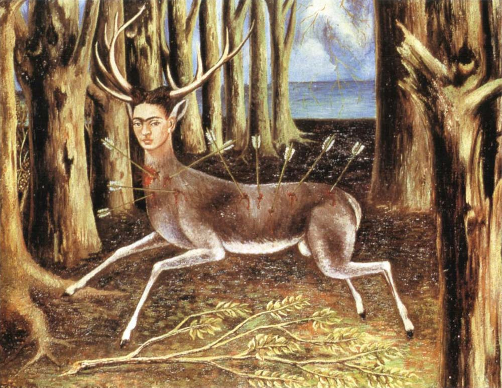 Since my subjects have always been my sensations, my states of mind and the profound reactions that life has been producing in me, I have frequently objectified all this in figures of myself, which were the most sincere and real thing that I could do in order to express what I felt inside and outside of myself.  -- Frida Kahlo