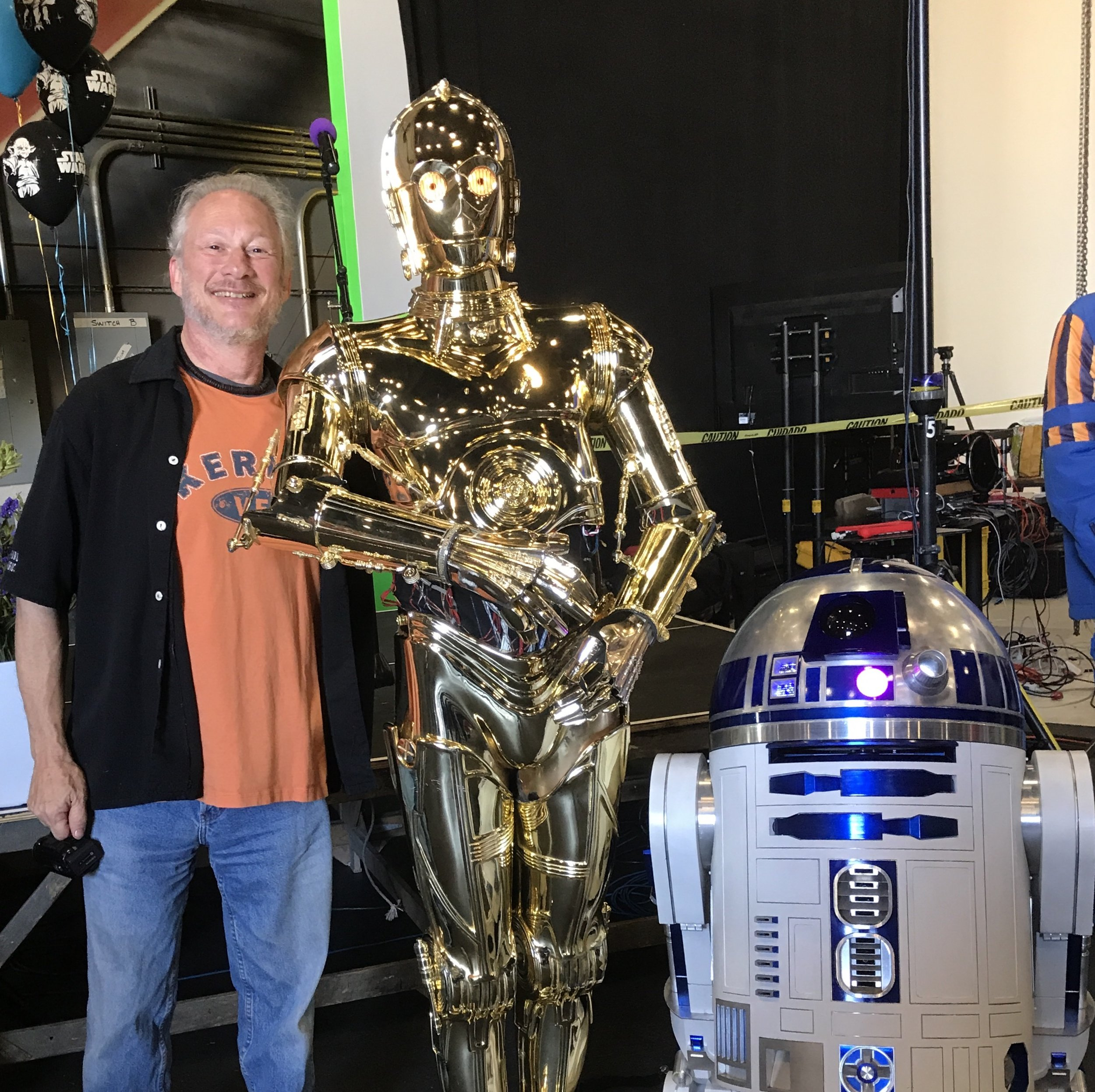 Ed Kramer with droids