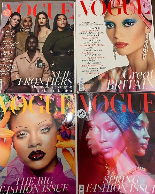 #tbt to some of our favourite @britishvogue #newvogue covers.. thank you to the fabulous @edward_enninful for shining a light on #diversity and making the industry more #inclusive .. each issue gets better and better .. #diversity #bame #style #modestfashion #style @britishvogue #femtech #wellness #womenshealth #ootd #london #newyork #paris #mydubai #thursdaythoughts