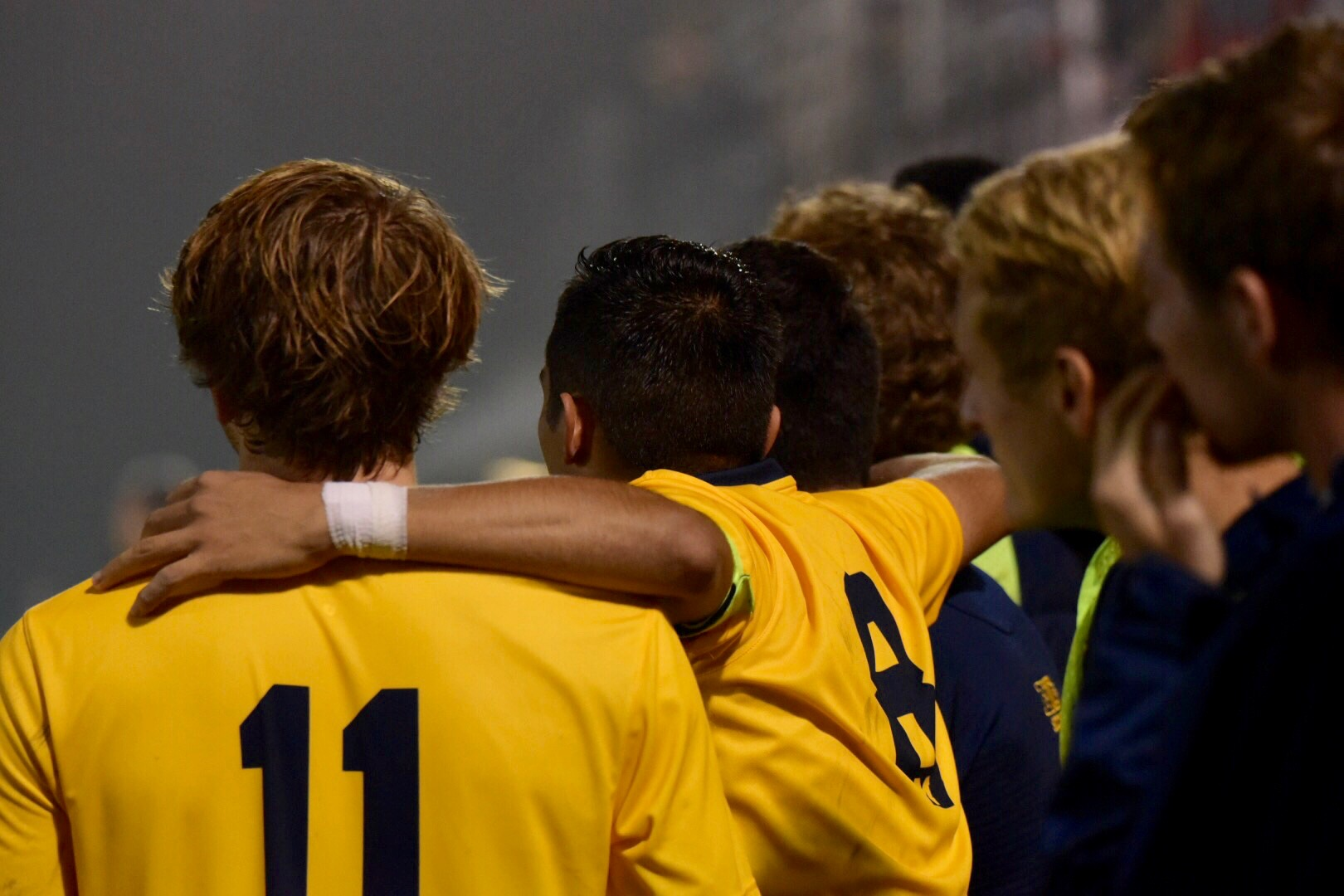 Jack Hallahan (11) is first in assists (6) and second in goals scored (5) for the Wolverines this season