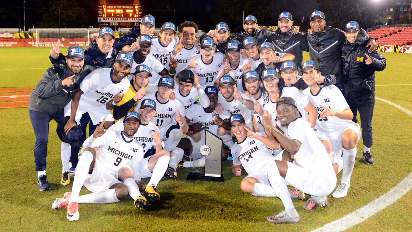 The Champs - Photo Courtesy of  University of Michigan Men's Soccer