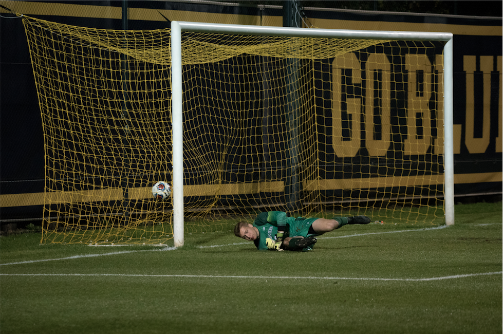 No Chance for Northwestern's Keeper