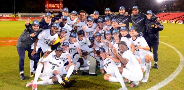 Francis Atuahene's golden goal in the 104th minute on October 29th lifted Michigan over Maryland to secure the programs first ever regualr season title