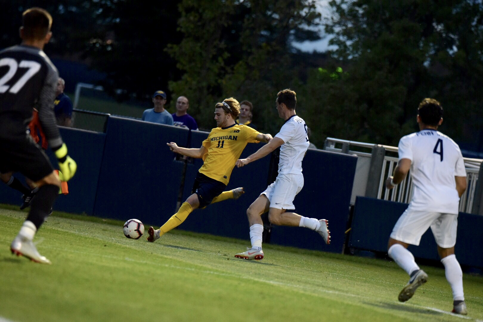 Jack Hallahan was locked in a key battle with star IU left back Andrew Gutman.