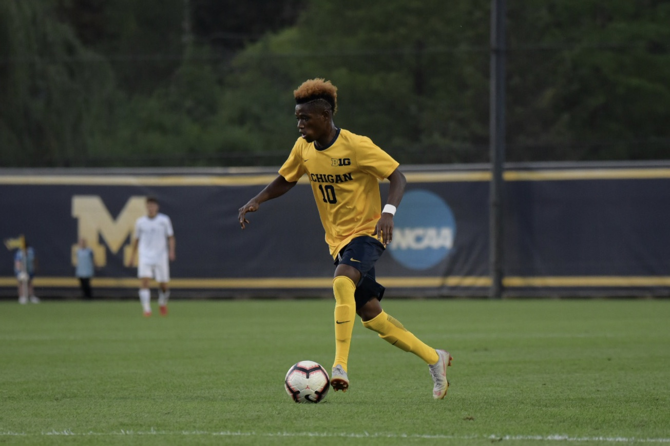 Umar Farouk Osman had two of Michigan's goals this afternoon.