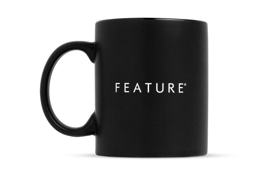 Feature All Black Mug