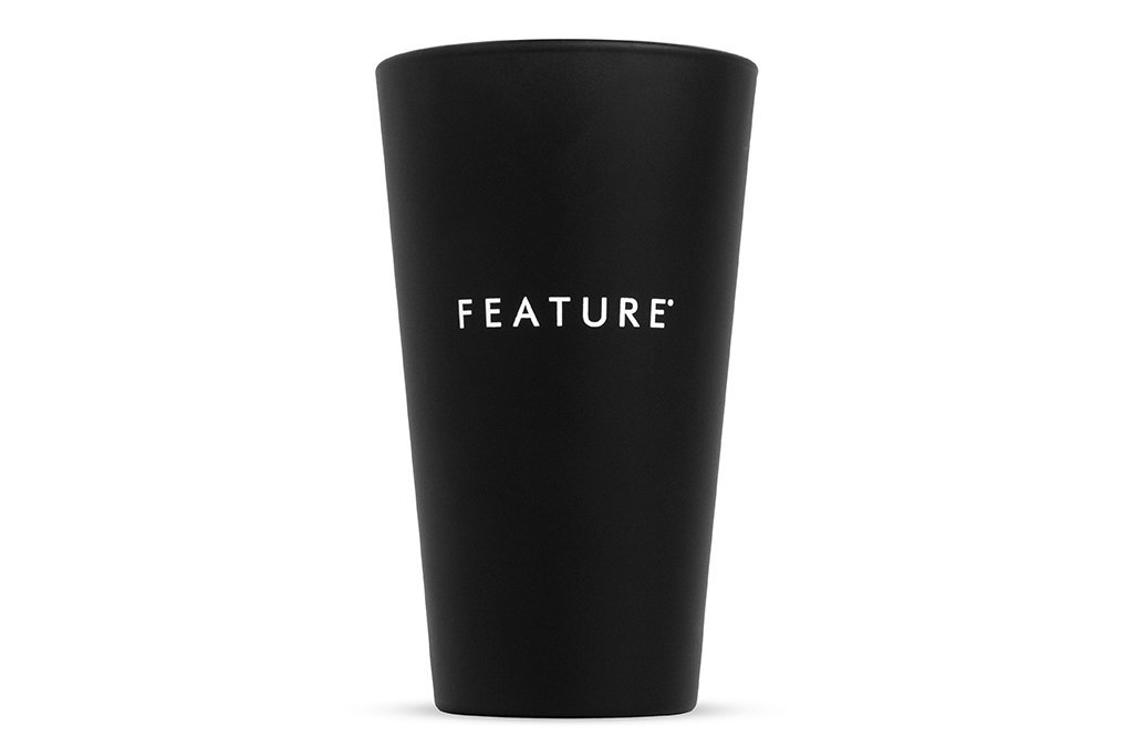 Feature All Black Pint Glass