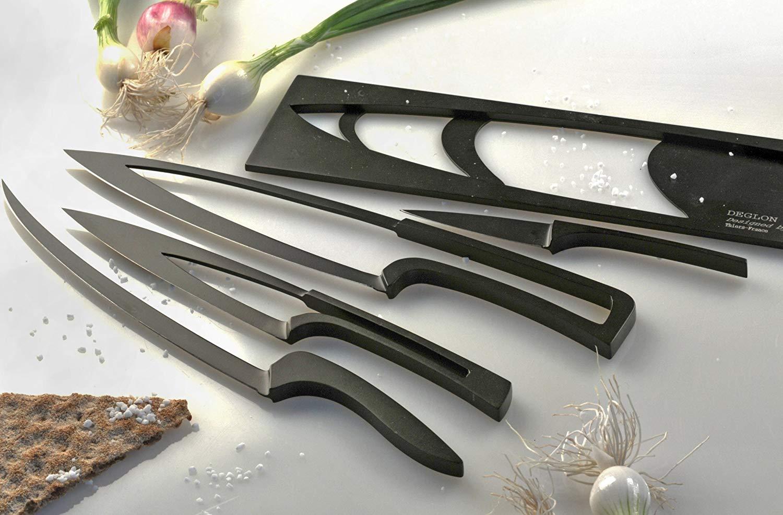 Deglon All Black Knife Set