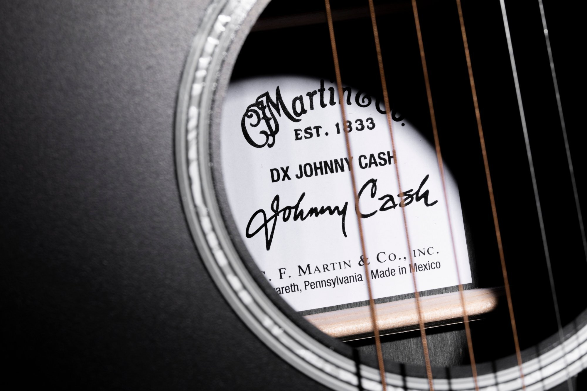 All Black Martin DX Johnny Cash Edition Guitar