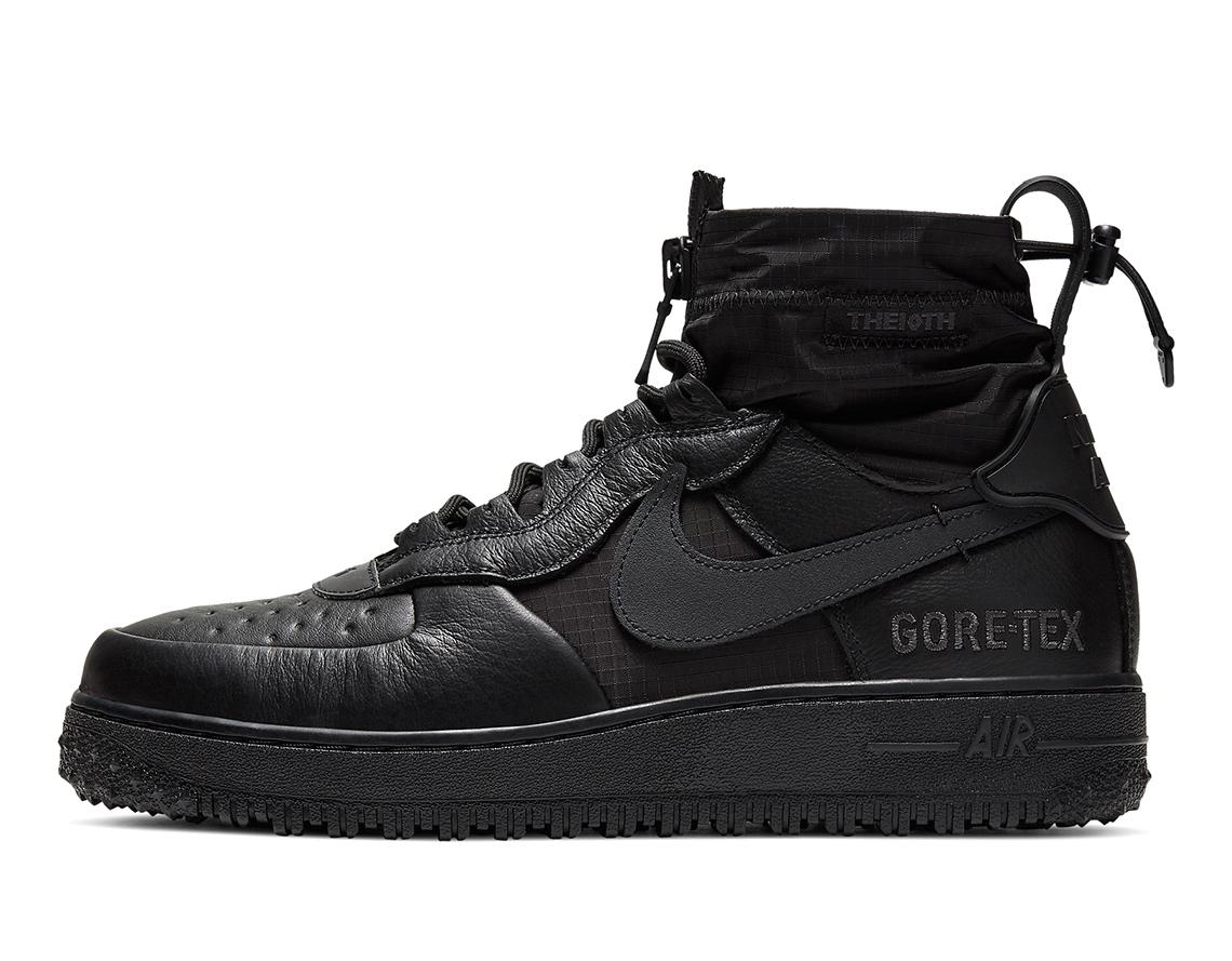 Nike Air Force 1 Triple Black Gore-Tex