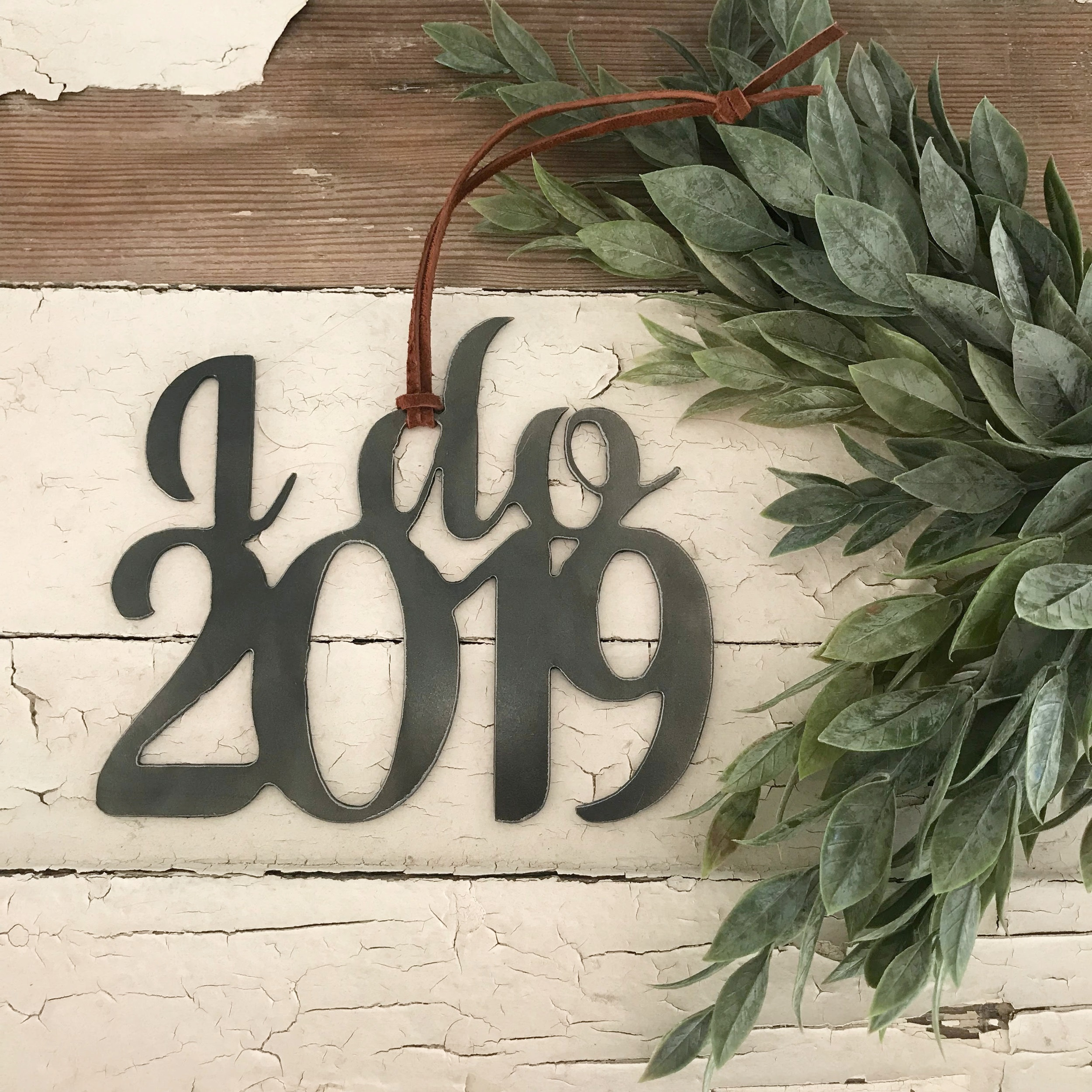 I do 2019. Our  wedding ornament  for this year.