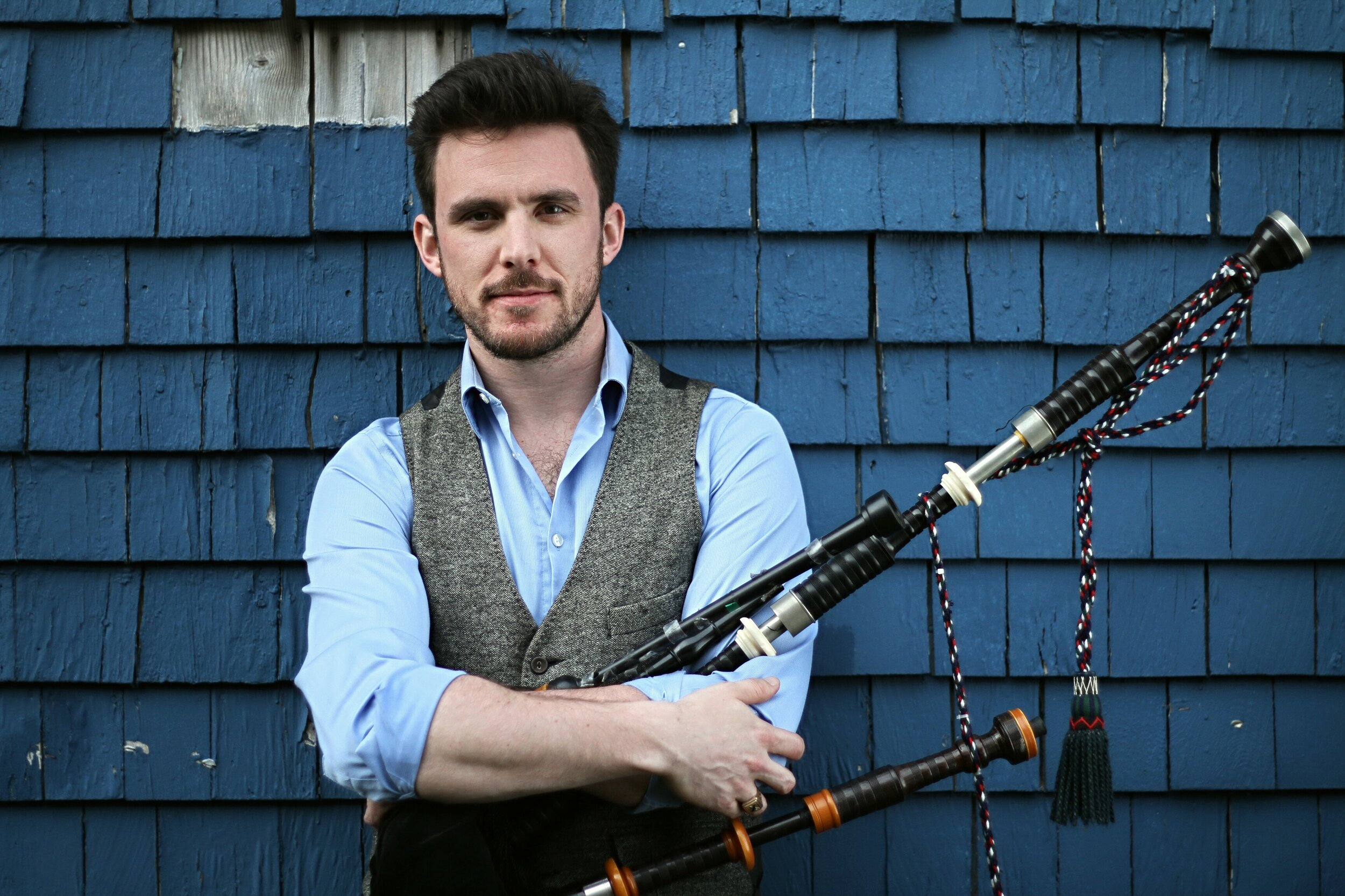 Rankin MacInnis - First known as a Cape Breton piper, Rankin's pipes have placed him on all sorts of stages. He has played on stages at the Vancouver Olympics, with DRUM! on the Parliament Hill Canada Day stage, and he's shared stages with groups like the Chieftains and the White Stripes. Most recently he has been a regular with Nova Scotia legends Jimmy Rankin and Bruce Guthro and runs the monthly Ceilidh at Obladee Wine Bar. When not piping, he's singing and dancing, most recently putting out an album (House Party) with the group Party Boots.