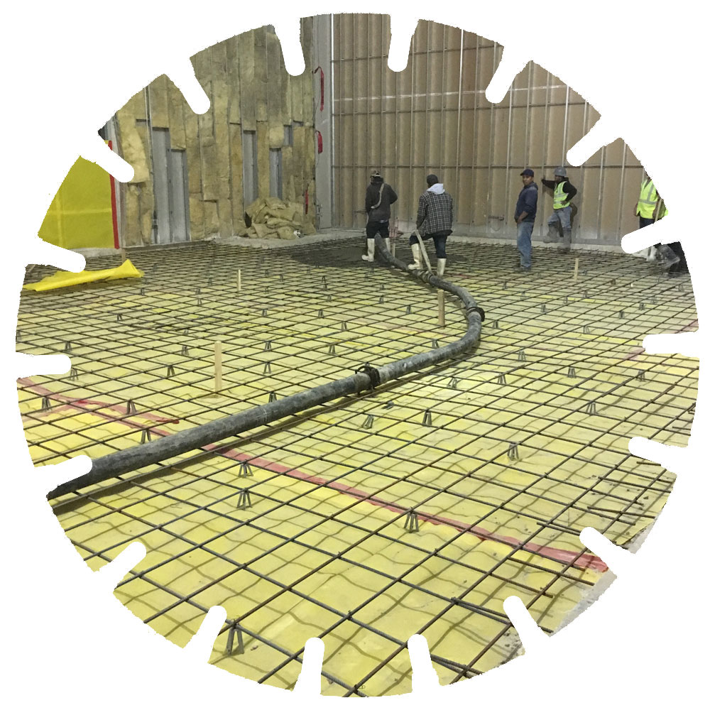 Concrete Placement - Large areas of concrete can be poured for a number of purposes included industrial, warehouses and commercial.
