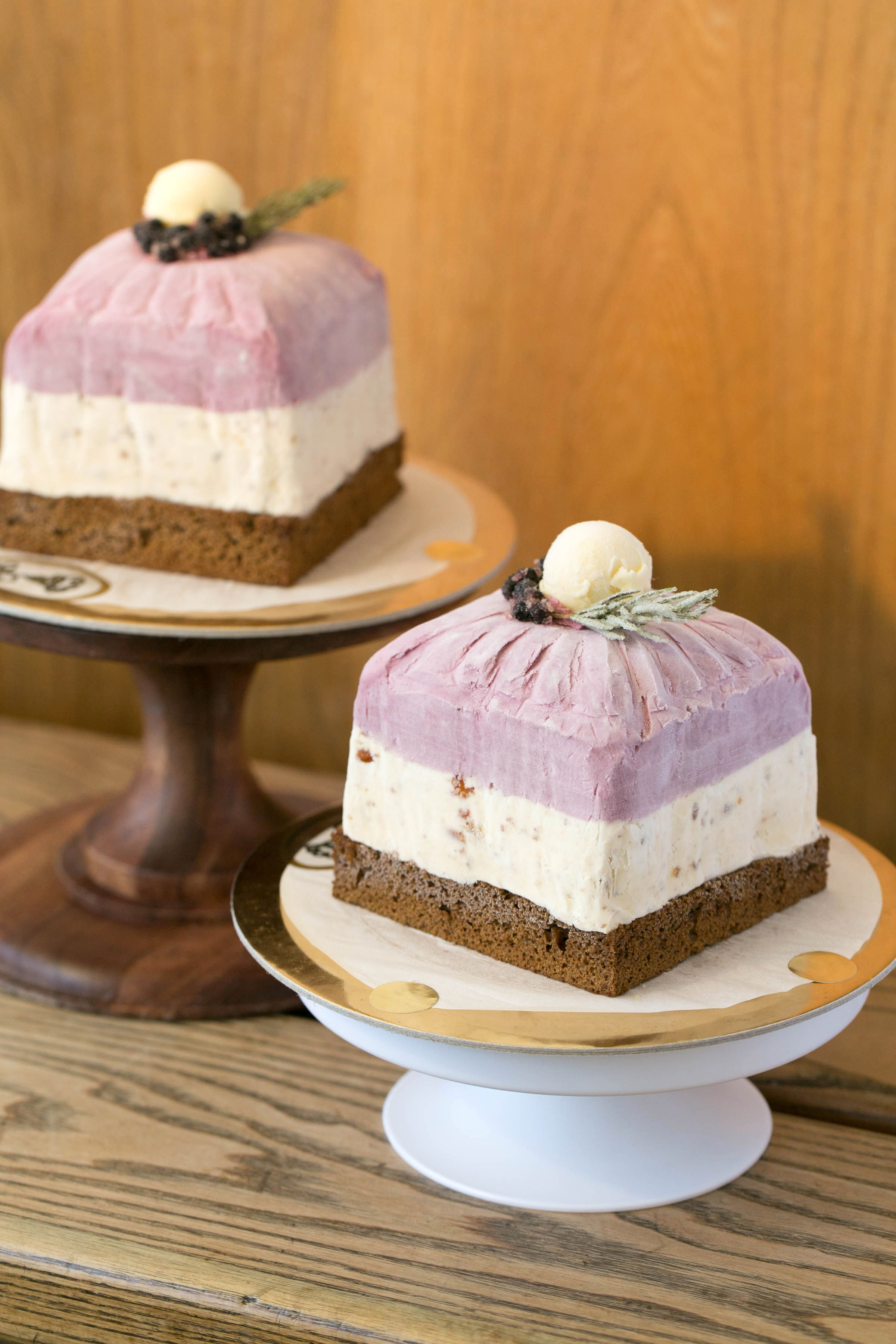 Huckleberry-panforte tea cake