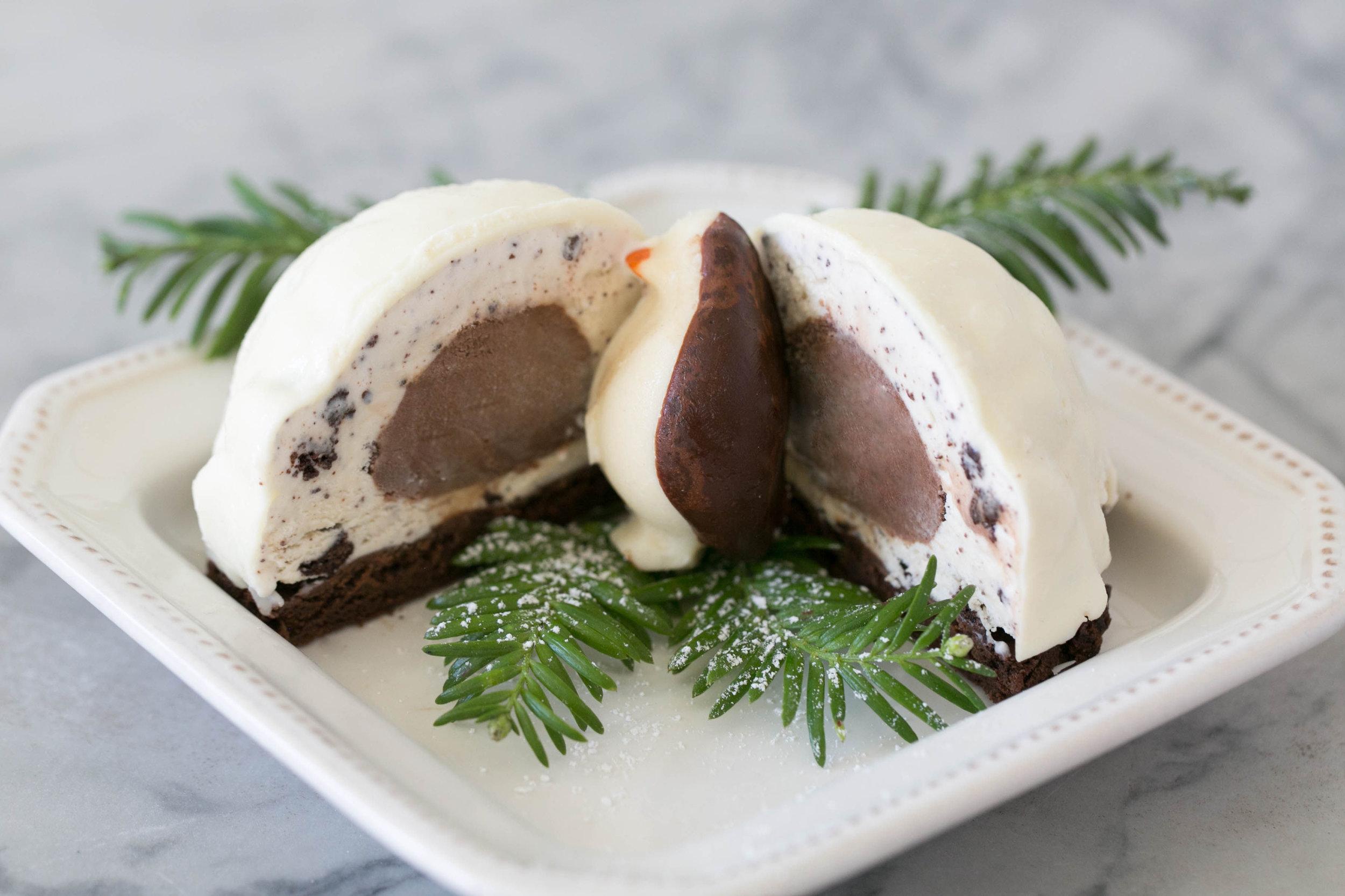 Gluten free ice cream igloo