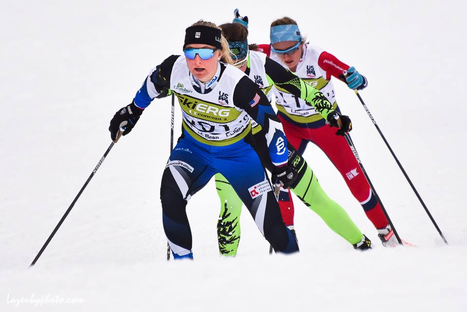 Leading her heat in the freestyle sprint at US Nationals. Photo credit John Lazenby
