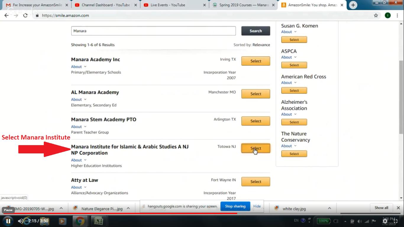 Step 6. Select and click Manara