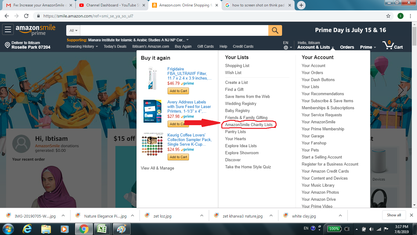 Step 3. Look for Amazon Smile and click on it