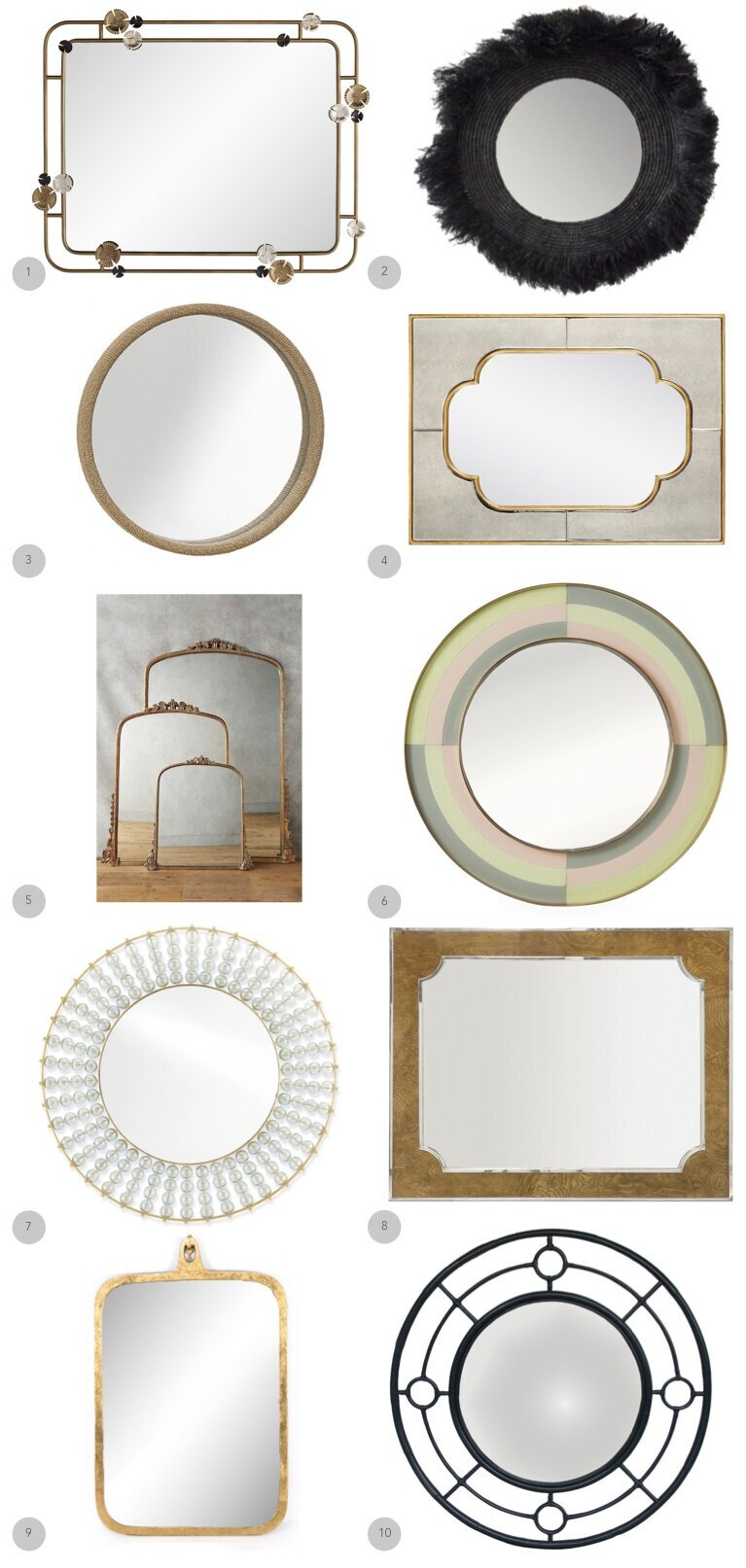 1.  Arteriors  2.  Celadon  3.  Brownstone Furniture  4.  Bungalow 5  5.  Athropologie  6.  Jonathan Adler  7.  Currey + Company  8.  Bernhardt  9.  Four Hands  10.  Red Egg