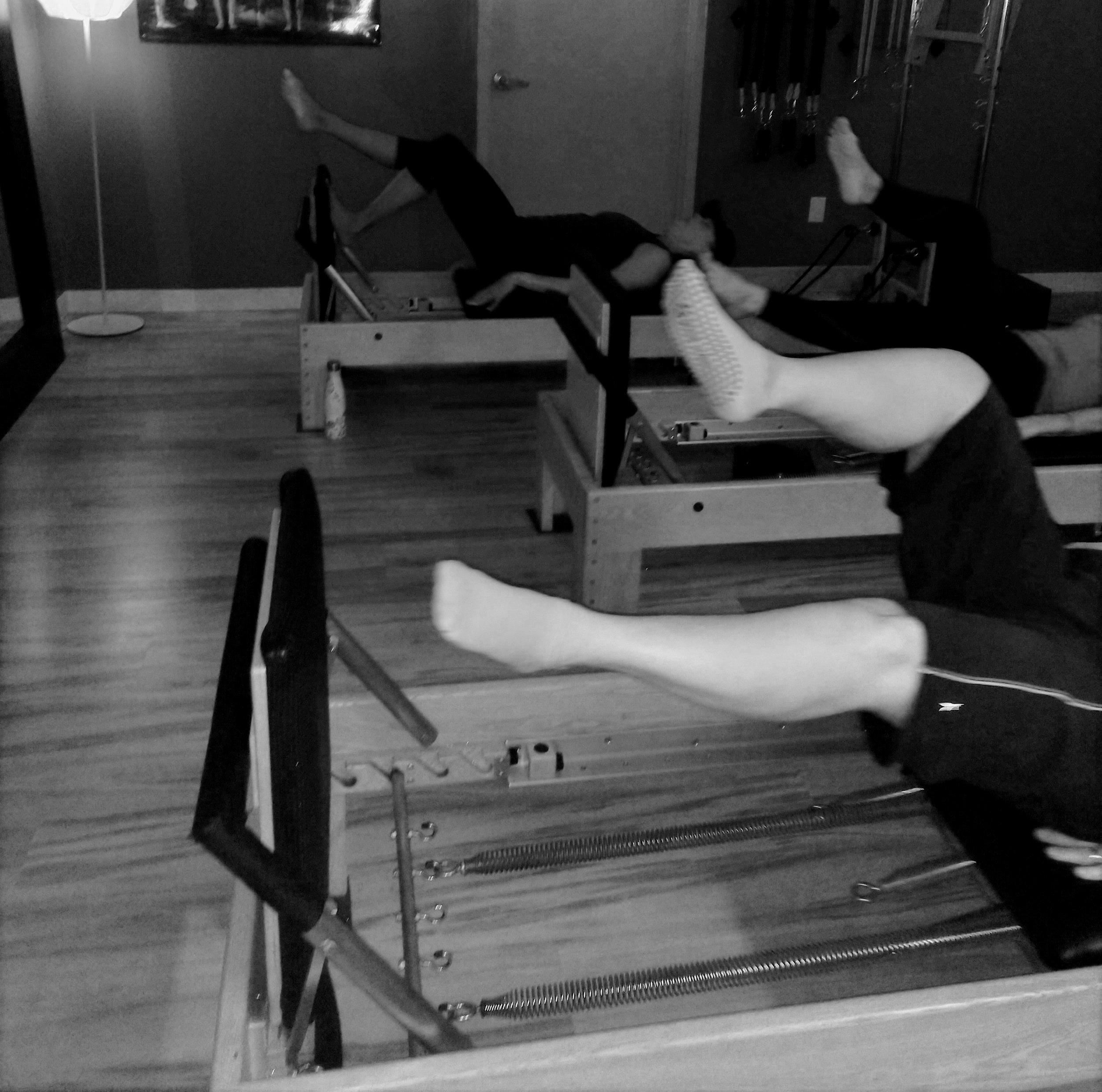 Cardio Reformer - This is a 45 Min HIT style class. Utilizing the Jumpboard to elevate the heart rate and burn mad calories. The way the Jumpboard is set up allows you to get cardio aerobic training with very little stress or impact on the joints. In between every jump session will be a body weight challenge, lunges, squats, abs, etc. Making this class a full body workout. Bring a towel and water, you will break a sweat!