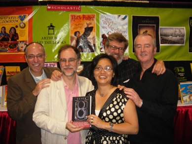 (from left) Arthur Levine, Gregory Maguire, Linda Sue Park, Tim Wynne-Jones, and David Almond at the ALA 2007 Annual Conference in Washington, D.C.