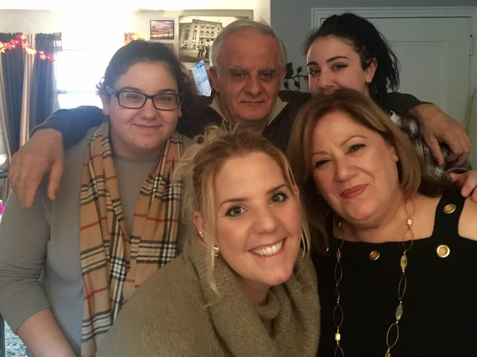 """""""My favorite thing to do in my home is entertain friends and family,"""" Tania said. Here, she hosts her family for Thanksgiving 2017 on their first visit to her new apartment."""