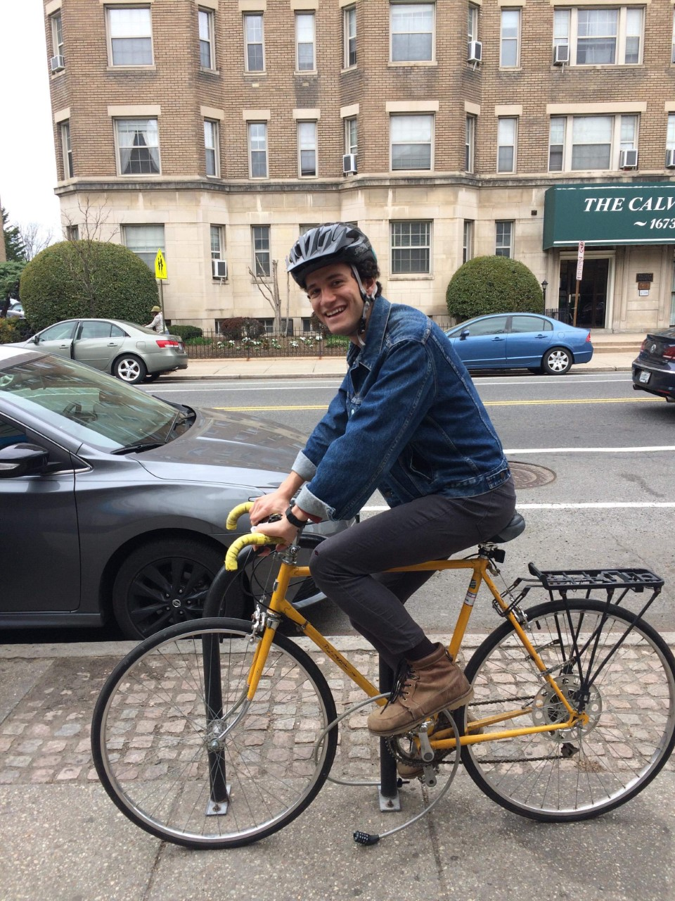 For Taylor Reich, one of the biggest benefits to living with their parents in Arlington is being able to bike everywhere (posing here in Columbia Heights).