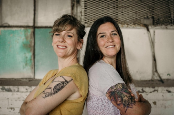 Sisters Meredith (left) and Kelly (right), the founders of Lick