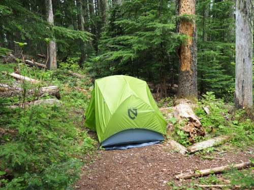 Camping on the Hunchback Trail