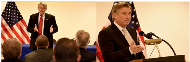 ESGR Executive Director Alex Baird (left) and FASTPORT CEO Bill McLennan (right)
