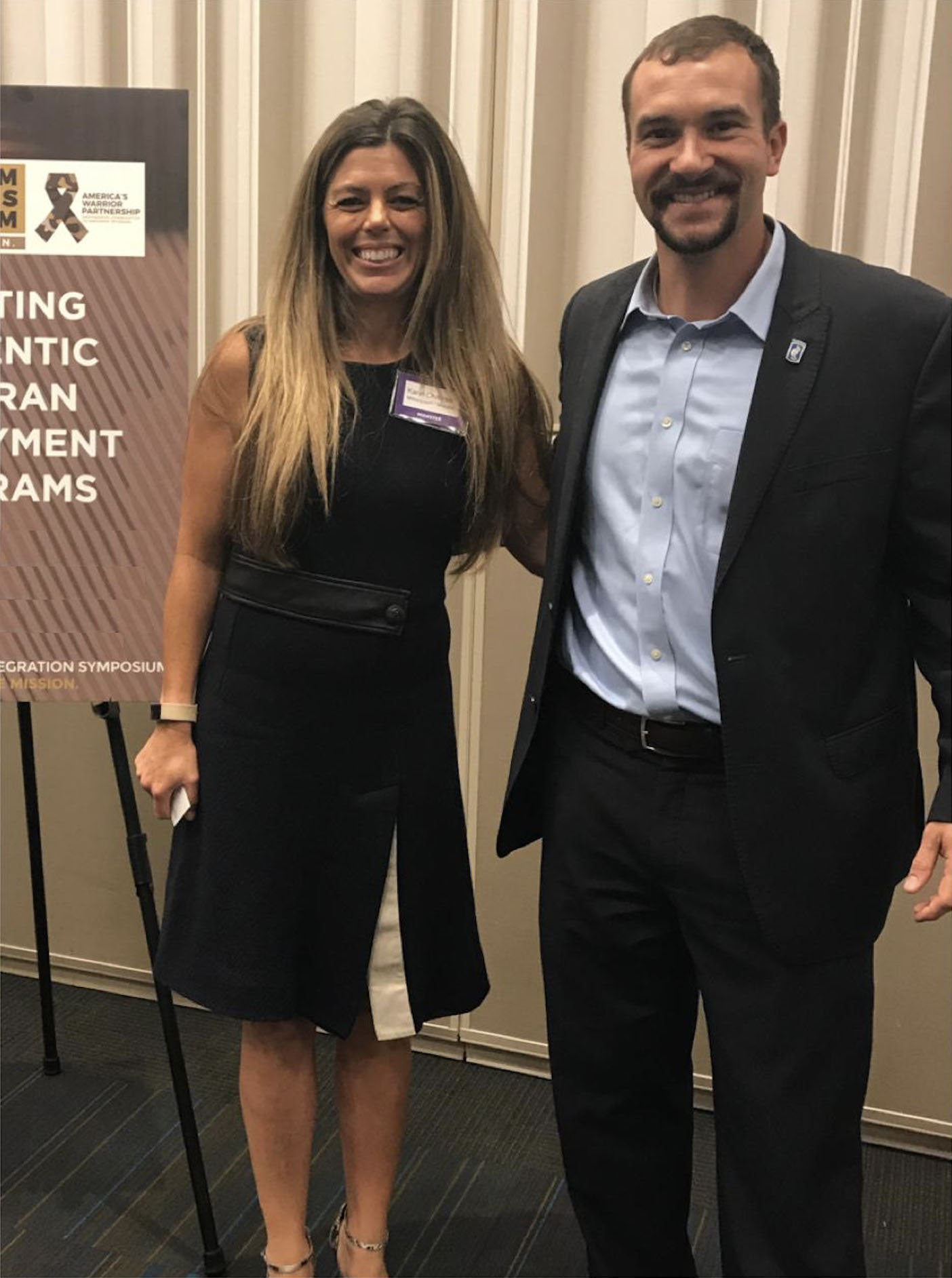 "Karin with Medal of Honor recipient Salvatore ""Sal"" Giunta"