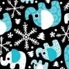Snowy Elephants