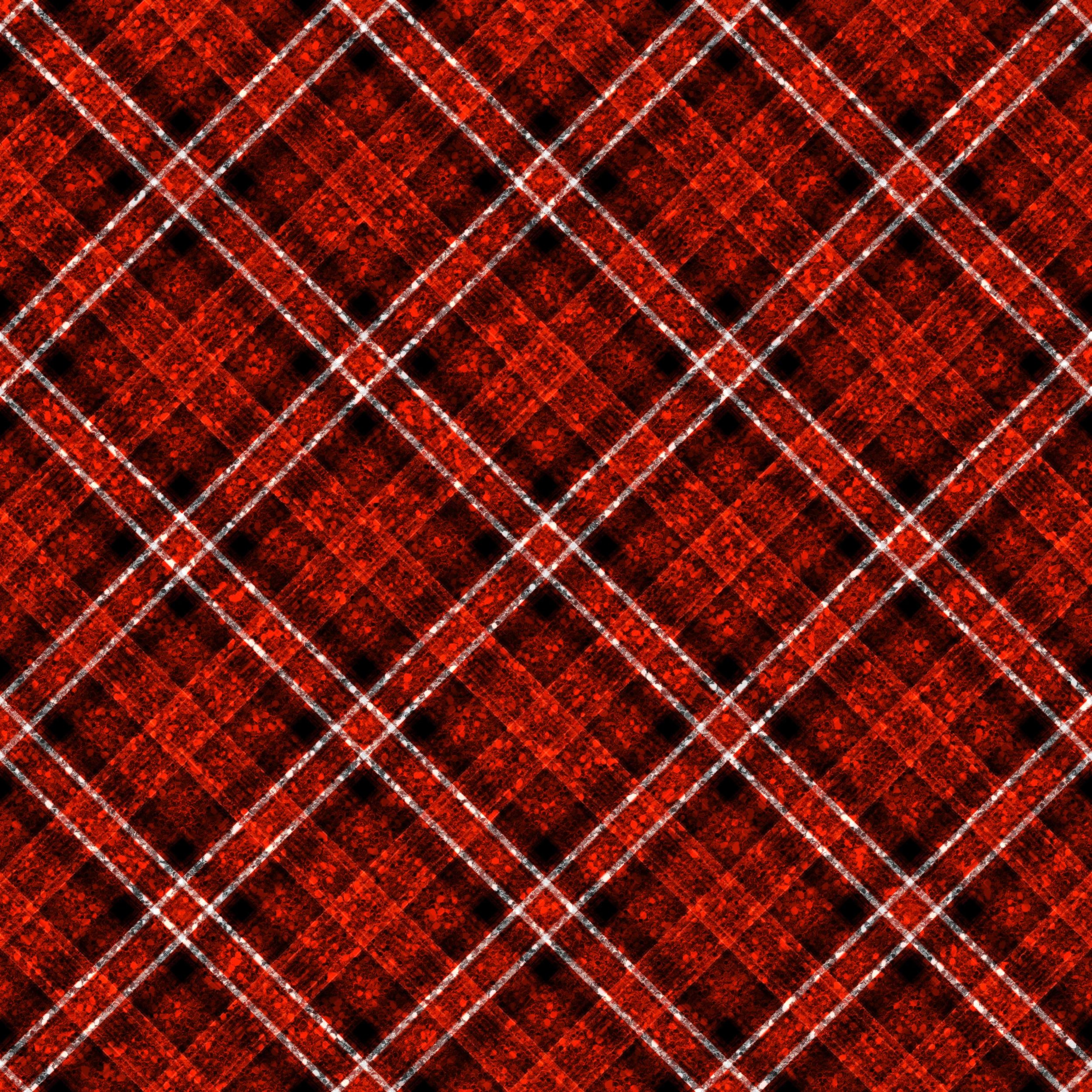 Red and Black Glitter plaid