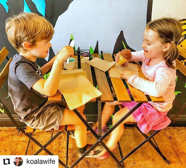 Summer is here! 🍦🌞🌴 Ice cream dates are the best kind of dates! #Repost @koalawife • • • • • • Being the best kind of third wheel. Mommy chaperone of an ice cream date 😇❤️ #socute  #preschool #icecream #date #relationshipgoals #kids #smallbatchicecream #marvista