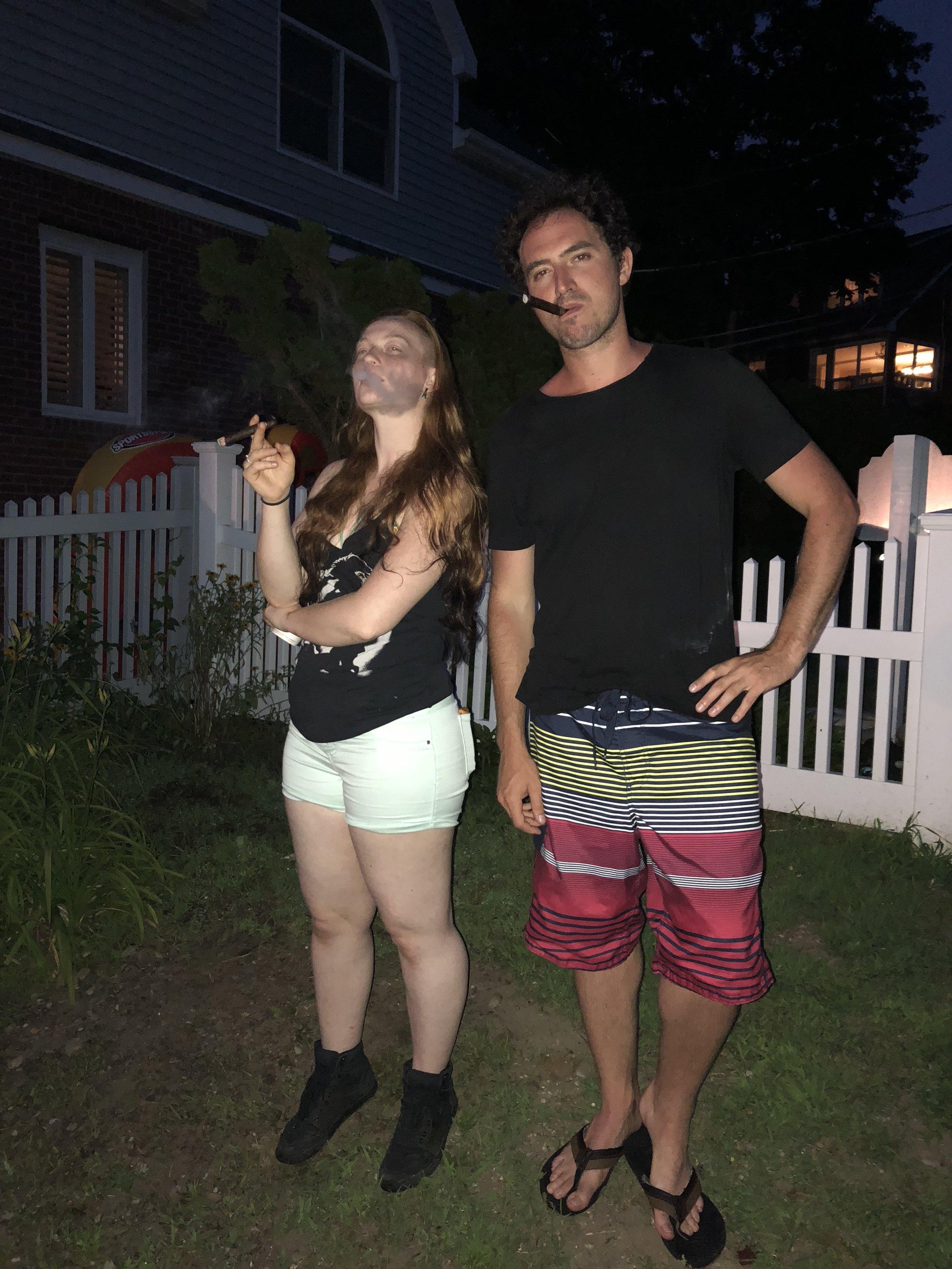 4 July 2018 - Adrianne & Davide during fireworks