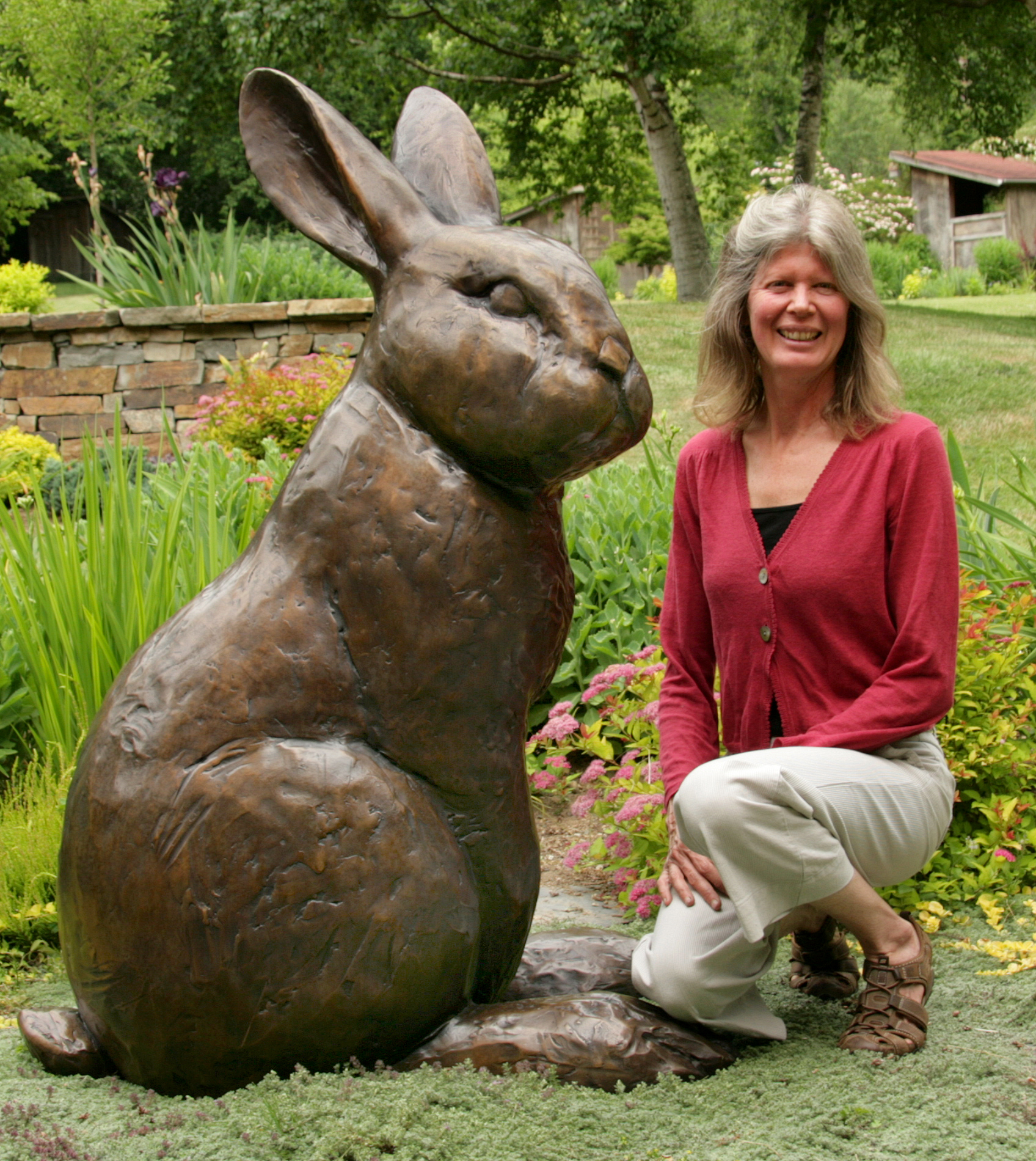Georgia Gerber with Arctic Hare (1).jpg