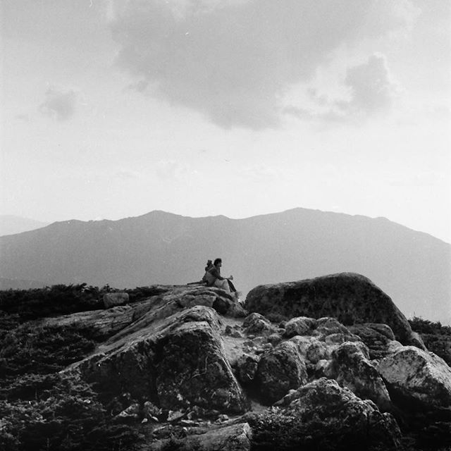 Andy in 1971 in the White Mountains.  Photo courtesy of Thomas Loucks. • • • #MountainMonday #TheFinalClimb #ClimbWithUs #AMC #SouthTwin #hiking #climbing #summit #EndAlz